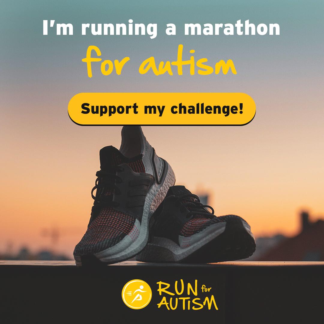Social post - I'm running a marathon
