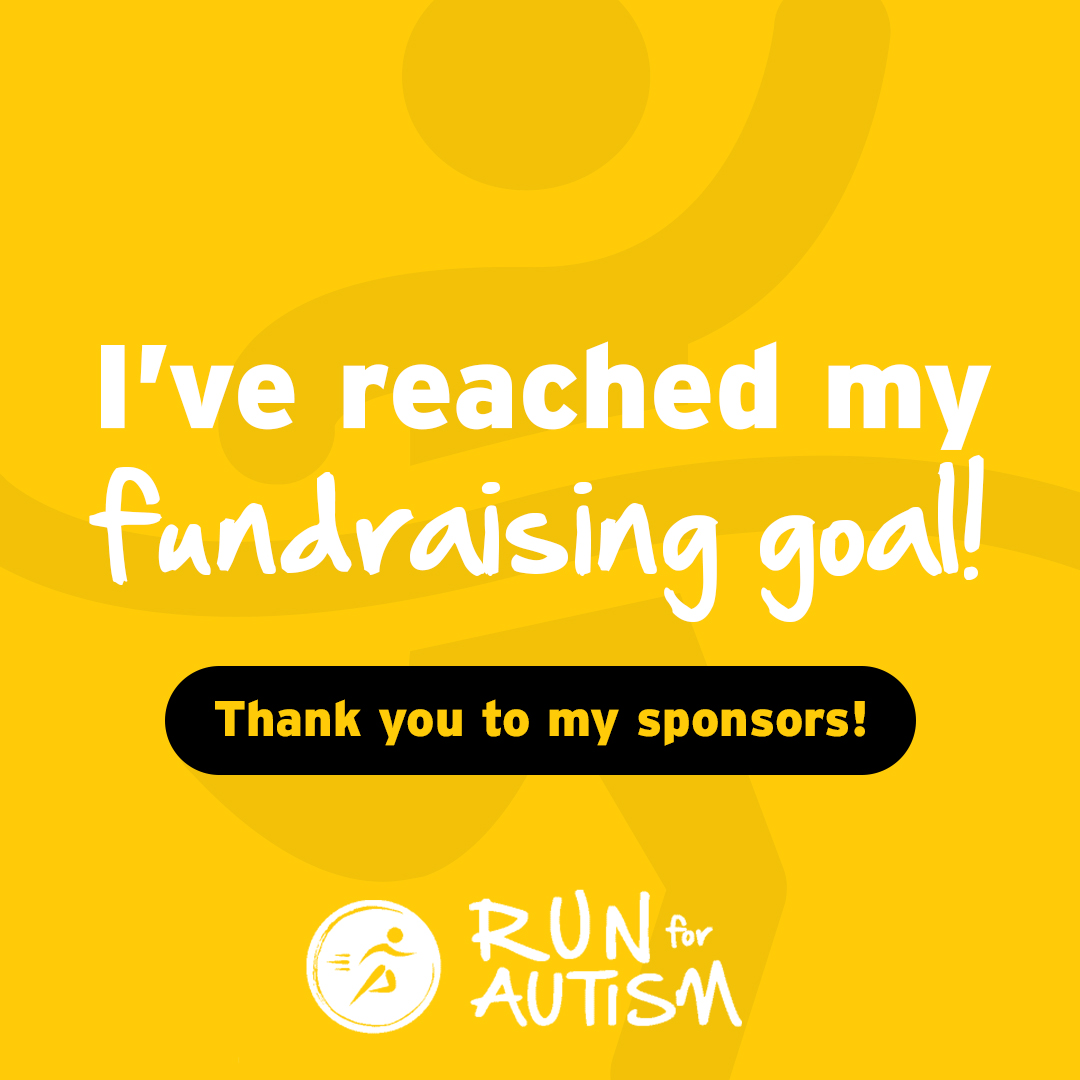 Social post - I have reached my fundraising goal