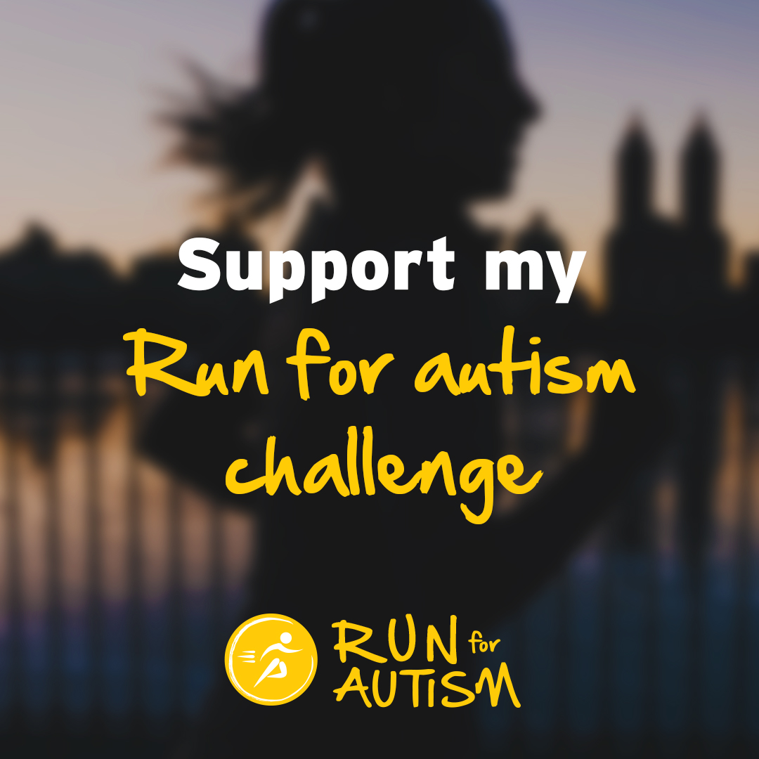 Social post - Support my Run for autism challenge