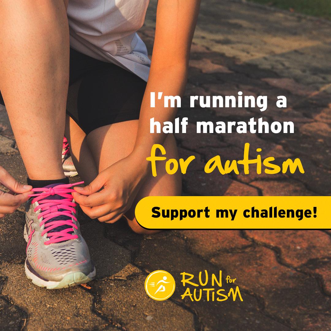 Social post - I'm running a half marathon